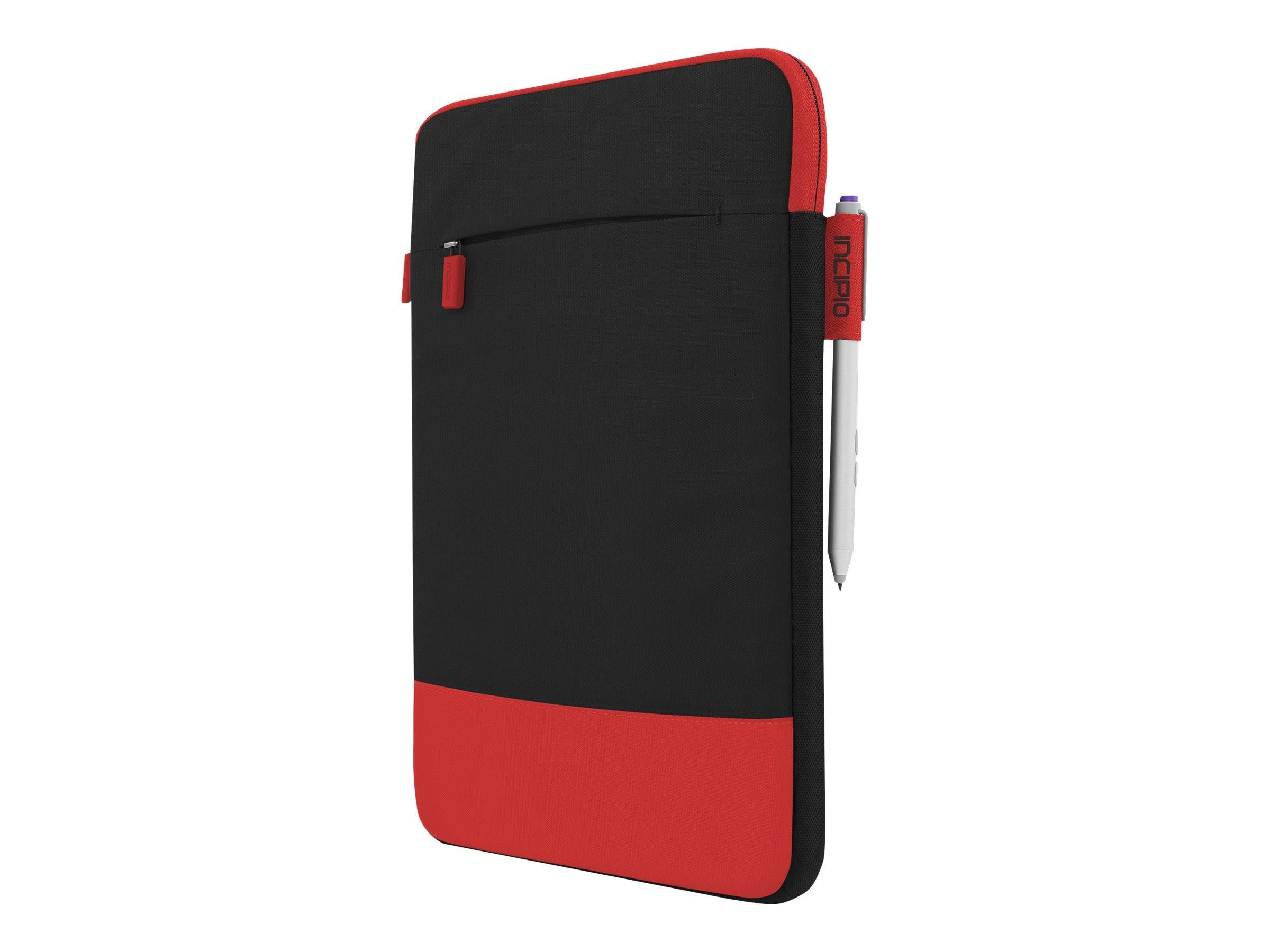 Incipio Asher Sleeve Premium Nylon Sleeve for 10 11 Devices, Black Red