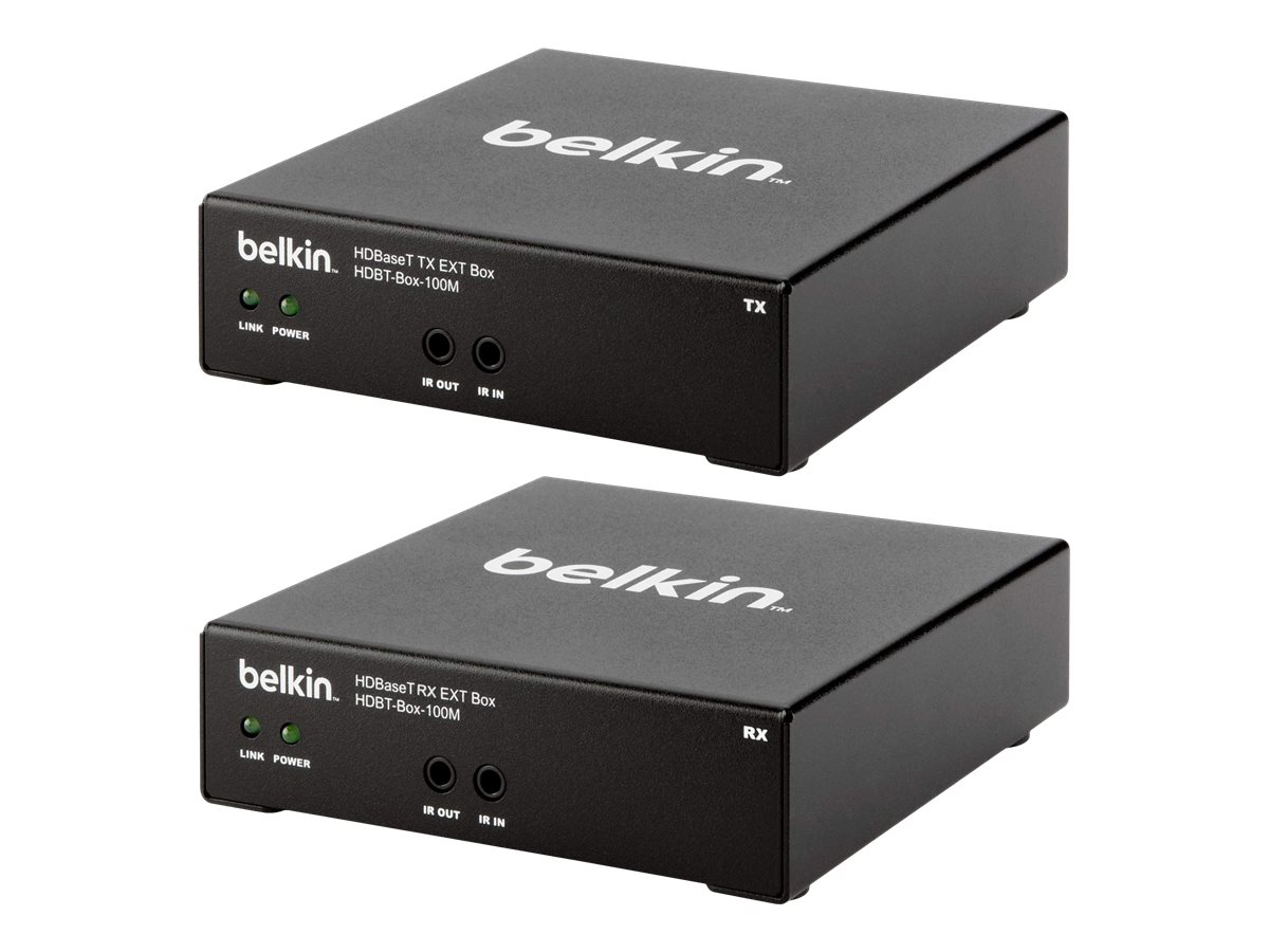 Belkin HDBaseT Cat5e for Digital Signage HDMI Extender Boxes (1 Set – Transmit and Receive) (UP TO 100M), HDBT-BOX-100M, 15186160, Video Extenders & Splitters