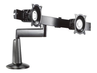 Chief Manufacturing Single Arm Dual Monitor Desk Mount for 10-24 Displays