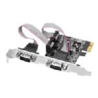 Siig 2-port DB9 Serial RS-232 PCIe 16950 Dual Profile Controller, JJ-E02111-S1, 13228371, Controller Cards & I/O Boards