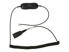 Jabra GN1216 Coiled Cord for Avaya one-X Deskphone 9600 & 1600 Series, 88001-04, 12609796, Headsets (w/ microphone)