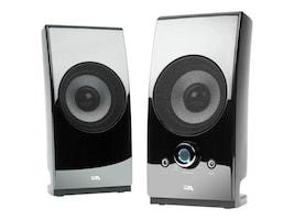 Cyber Acoustics 2.0 Power Speaker System w  Desktop Controls - Glossy Black, CA-2027, 31070706, Speakers - Audio