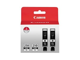 Canon PGI-250PGBK XL Black Ink Cartridges (2-pack), 6432B004, 15901240, Ink Cartridges & Ink Refill Kits