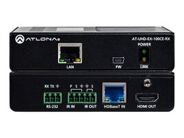 Atlona 4K UHD HDMI Over 100M HDBaseT Receiver with Ethernet, Control and PoE, AT-UHD-EX-100CE-RX, 32657939, Switch Boxes - AV