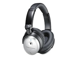 Audio-Technica Noise Cancelling Over Ear Headset w  Controller, ATH-ANC7B-SVIS, 34199530, Headsets (w/ microphone)