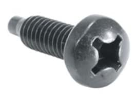 Middle Atlantic Rack Screws, Heat Treated, Nylon Washers, 5 8 x 12-24, Black (100-pack), HP-24, 12207893, Tools & Hardware