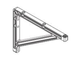 Draper 10 14 Extension Brackets for V Screen, White, 227223, 12897741, Stands & Mounts - AV
