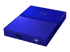 WD 1TB My Passport USB 3.0 Portable Hard Drive - Blue, WDBYNN0010BBL-WESN, 32484927, Hard Drives - External