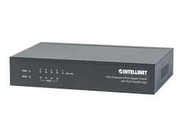Manhattan Intellinet 5-Port PoE Gigabit Switch w PoE Passthrough, 561082, 31448537, Network Switches