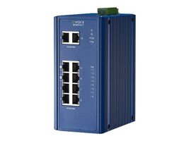 B&B Electronics 8-Port GbE PoE Switch w 2xGbE, SEGP310-T, 31909778, Network Switches