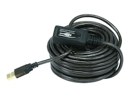 Monoprice 28 24AWG USB 2.0 Type A to USB-A M F Extension Cable, Black, 32ft, 6149, 38095463, Cables