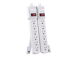 CyberPower Power Strip (6) Outlets 2ft Cord, White (2-pack), MP1044NN, 32398172, Power Strips