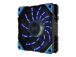 Enermax DF Vegas 12cm LED Fan w Patented Dust-free Fan, UCDFV12P-BL, 33562907, Cooling Systems/Fans