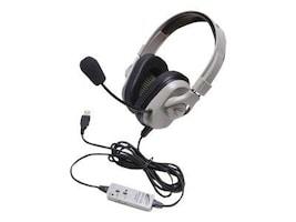 Califone Washable USB Headset - Titanium, HPK-1010, 35621405, Headsets (w/ microphone)