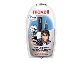 Maxell Cellphone Headphone Adapter, 190397/HP-22, 9903062, Headphones