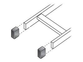 Black Box Ladder Rack End Cap Kit, RM661, 8926001, Rack Cable Management