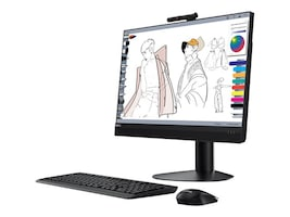 Lenovo TopSeller ThinkCentre M920z AIO Core i5-8500 3.0GHz 8GB 256GB OPAL DVD+RW ac BT WC 23.8 FHD W10P64, 10S6002CUS, 35977073, Desktops - All-in-One