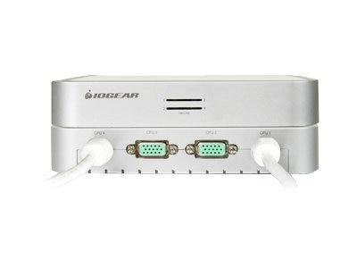 IOGEAR MiniView 4-Port USB KVM Switch, Built-in KVM Cables, Audio Support