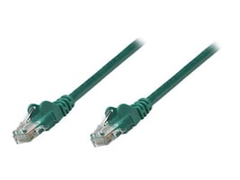 Intellinet CAT5E PVC UTP 350MHZ Patch Cable, Green, 25ft, 319881, 16214919, Cables