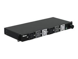 Panduit Basic Horizontal 1U PDU 3PH 208V 50A, Hubbell CS8365C Input, (6) C19 Outlets, 10ft Cord, Black, P06B02M, 34323174, Power Distribution Units