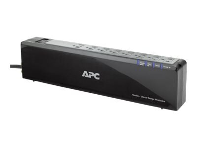 APC Premium Audio Video Surge Protector, 2525 Joules, (8) Outlets, P8V, 9849676, Surge Suppressors