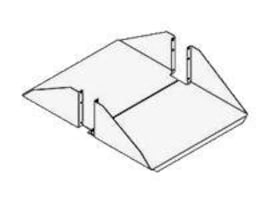 Chatsworth 26 Deep Shelf for 19 Racks, black, 11054-719, 5209313, Rack Mount Accessories
