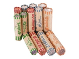 Royal Sovereign 1008 Assorted Coin Preform Wrappers Pack (Federal Reserve & ABA Compliant), FSW-1008A, 35164321, Paper, Labels & Other Print Media