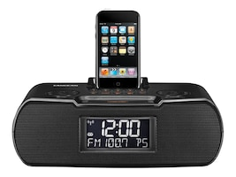 Sangean AM FM Atomic Clock Radio Dock, RCR-10BLACK, 11983524, Clock Radios