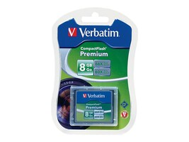 Verbatim 8GB CompactFlash Memory Card, 96196, 9044026, Memory - Flash