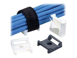 Panduit Tak-Ty Hook and Loop Cable Tie Mount, 1.12x1.12, Black, ABMT-A-C20, 32261571, Cable Accessories