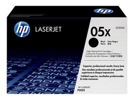 HP 05X (CE505X) High Yield Black Original LaserJet Toner Cartridge, CE505X, 8929033, Toner and Imaging Components - OEM