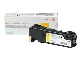 Xerox Yellow Toner Cartridge for Phaser 6140, 106R01479, 10622428, Toner and Imaging Components - OEM