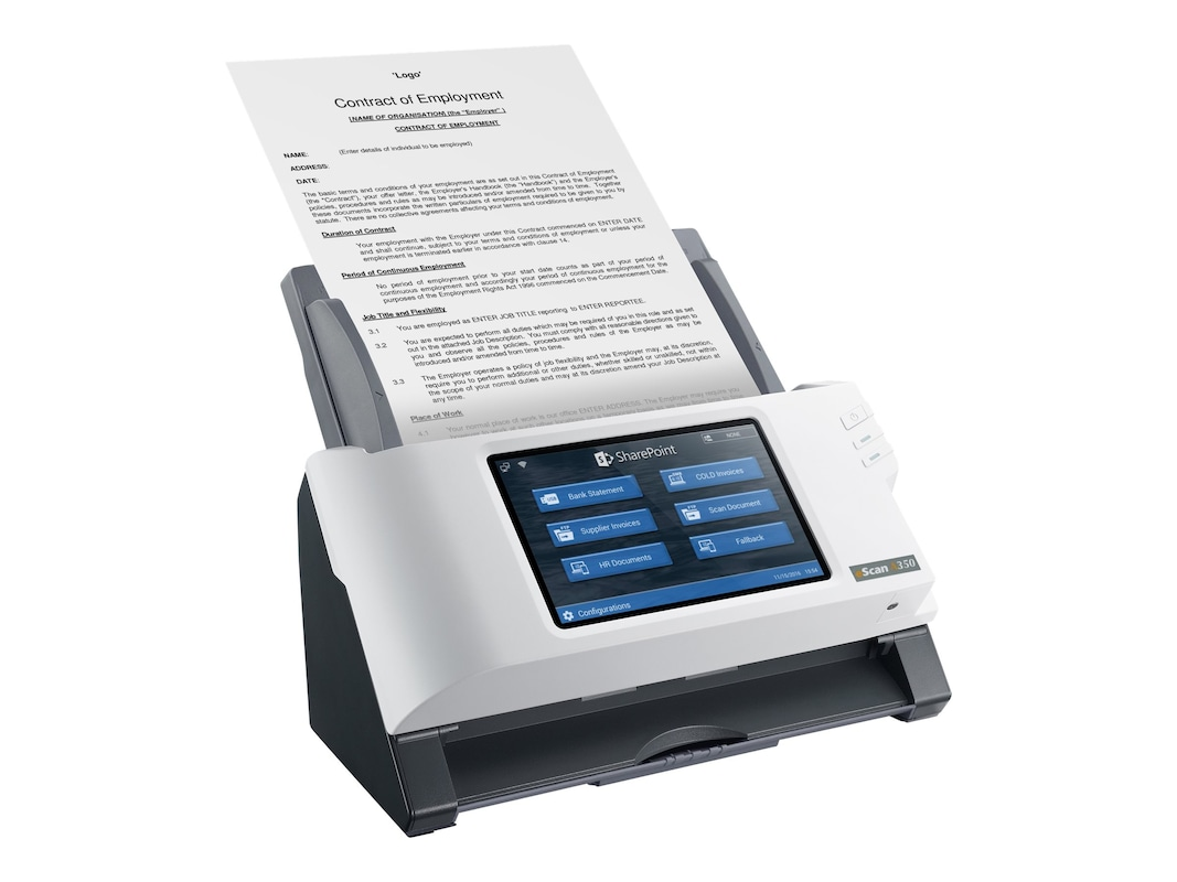 Plustek ESCAN A350 SHAREPOINT SCANNER PERP25 PPM WIFI ETHERNET NO PC NEEDED