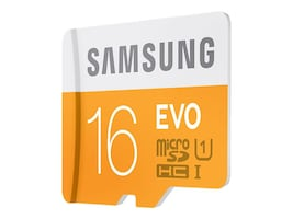 Samsung 16GB MicroSDHC EVO Memory Card with Adapter, Class 10, MB-MP16DA/AM, 18790961, Memory - Flash
