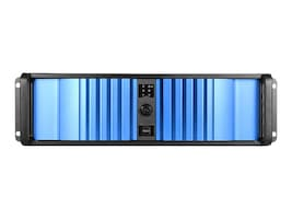 iStarUSA Chassis, D-300LSEA 3U 3x3.5 Bays (1xInternal) 4x5.25 Bays 1x600W PSU, Black, D-300LSEA-60S2UP8, 33604839, Cases - Systems/Servers
