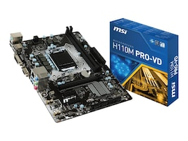 Microstar H110M PRO-VD Main Image from Front
