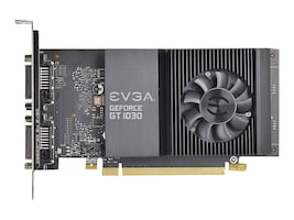 eVGA GeForce GT 1030 SC PCIe 3.0 Graphics Card, 2GB GDDR5, 02G-P4-6338-KR, 34313136, Graphics/Video Accelerators