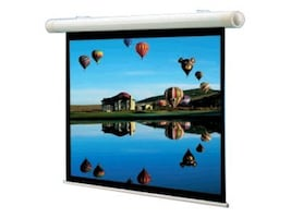 Draper Salara Plug & Play Motorized Projection Screen, Matte White, 4:3, 84, 136007, 6043415, Projector Screens
