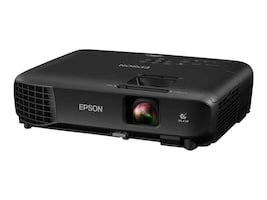 Epson PowerLite 1266 WXGA 3LCD Projector, 3600 Lumens, Black, V11H845120, 34480401, Projectors