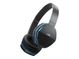 JVC On Ear Bluetooth Swivel 30mm Wireless Headset - Black w  Blue Trim, HASBT5A, 30925821, Headsets (w/ microphone)