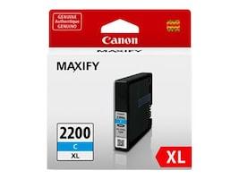 Canon Cyan PGI-2200 XL Pigment Ink Tank, 9268B001, 17922731, Ink Cartridges & Ink Refill Kits - OEM