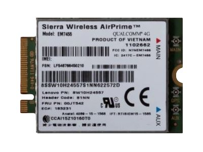 Lenovo Thinkpad Em7455 4g Lte Mobile Broadband Module