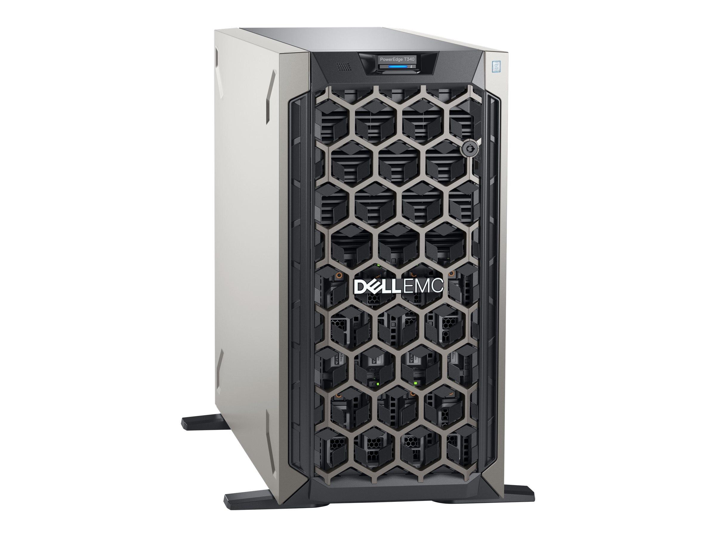 Dell PowerEdge T340 Tower Xeon QC E-2134 3 5GHz 8GB 1TB 8x3 5
