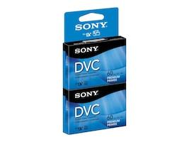 Sony DVC Premium Video Tape, 60 Minute, 2 Pack, DVM60PRR2, 9954636, Video Tape Media