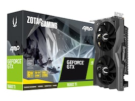 Zotac GeForce GTX 1660TI AMP ED GTX 1660TI 6GB GDDR6 192-Bit 1860 12002 Card, ZT-T16610D-10M, 36715446, Graphics/Video Accelerators