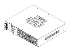 Raritan PDU 208V 24A 1-phase 2U (2) NEMA L6-30P Input (16) C13 (4) C19 Outlets, PX3TS-1464R, 18791402, Power Distribution Units
