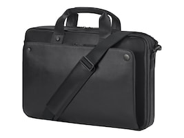 HP 15.6 Executive Top Load Case, Black Leather, 1LG83UT, 34336426, Carrying Cases - Notebook