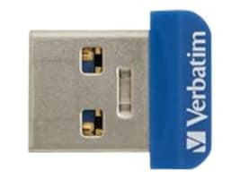 Verbatim 32GB Store 'n' Stay Nano USB 3.0 Flash Drive, Blue, 98710, 32408545, Flash Drives
