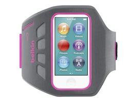 Belkin Ease-Fit Plus Armband for 7th-Generation Apple iPod nano, Gray Pink, F8W216TTC02, 32660257, Carrying Cases - iPod