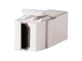 Ortronics Keystone HDMI Feed-Thru, Fog White, KSHDMI, 33733593, Premise Wiring Equipment